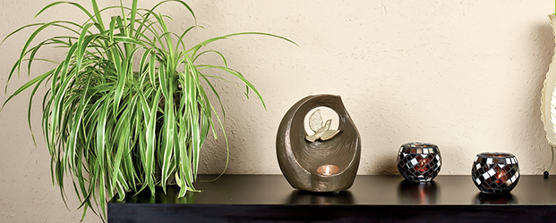 Our cremation urns blend beautifully into any interior